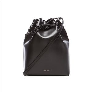 Mansur Gavriel Bucket Bag Black/Black Large